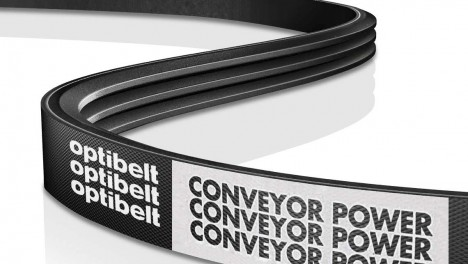 Optibelt ribbed elastic belts for conveyors