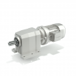 Helical coaxial gearboxes