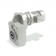 Helical shaft mounted gearboxes